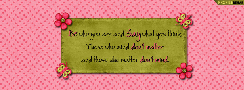 Be Yourself Saying Facebook Cover