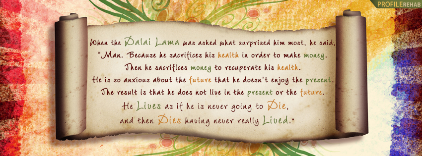Dalai Lama Quote Facebook Cover
