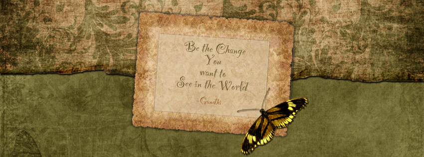 Gandhi Quote Facebook Cover for Timeline