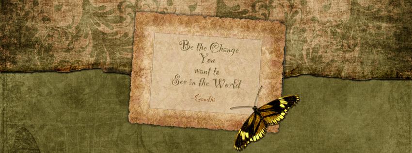 Gandhi Quote Facebook Cover for Timeline