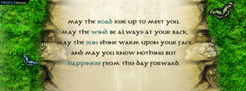 Irish Blessing Facebook Cover - Irish Quotes and Sayings - Old Irish Sayings