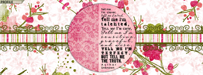 Green & Pink Quote Facebook Cover