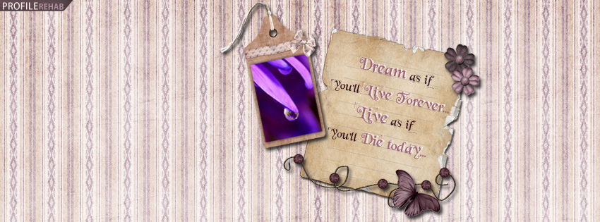 Dream Quote Timeline Cover for Facebook