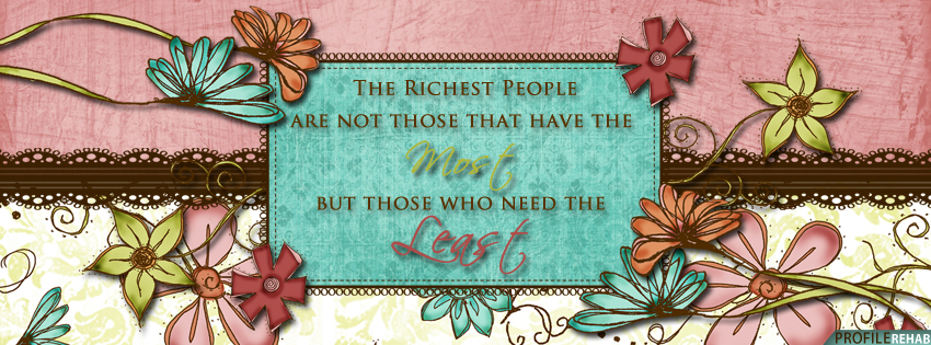 Colorful Flowery Quote Facebook Cover