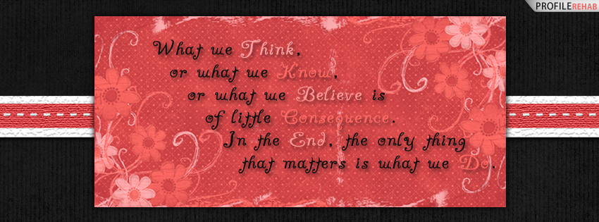 Pink and Black Quote Facebook Cover Preview
