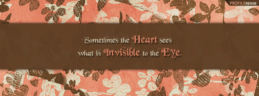Heart Quote Facebook Cover - Heart Quotes about Love