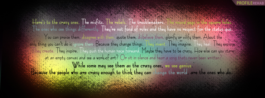 Jack Kerouac Quote Facebook Cover