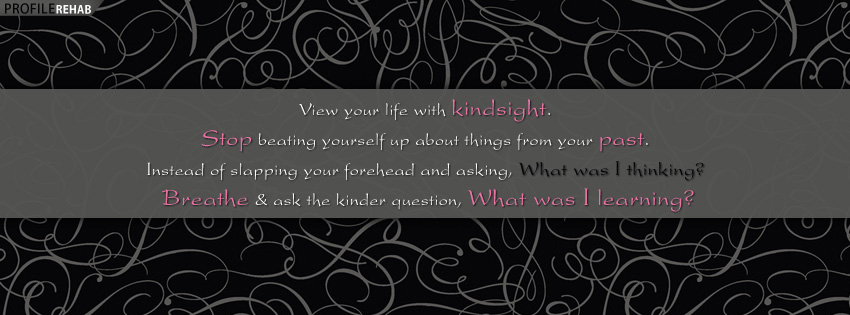 Kindsight Quote Facebook Cover