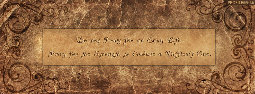 Quote About Life Facebook Cover