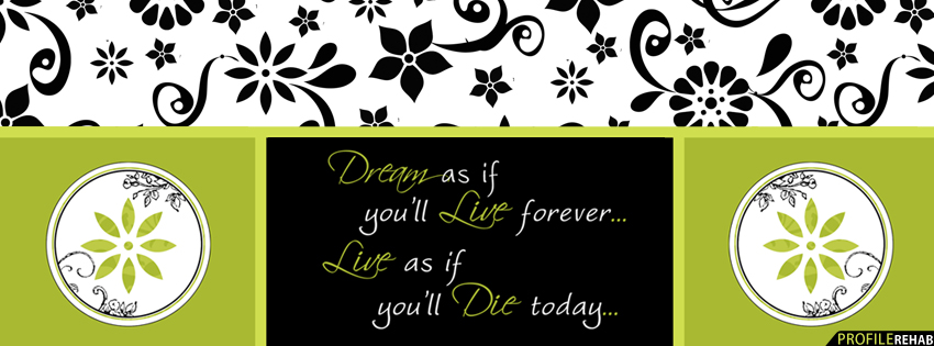 Dreams Quote Facebook Cover for Timeline