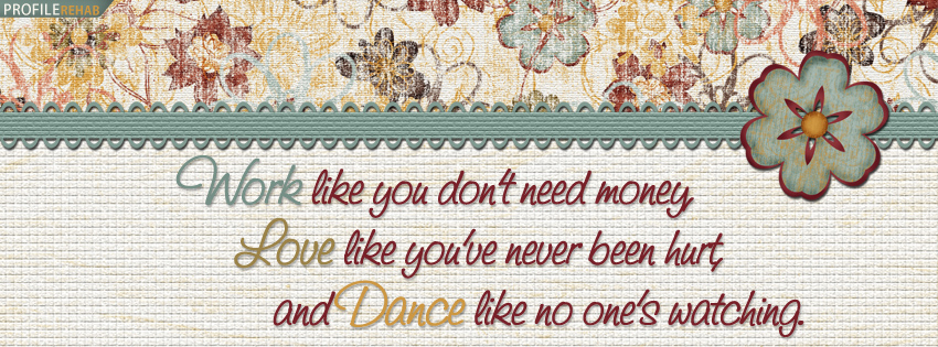 Cute Quote Facebook Cover