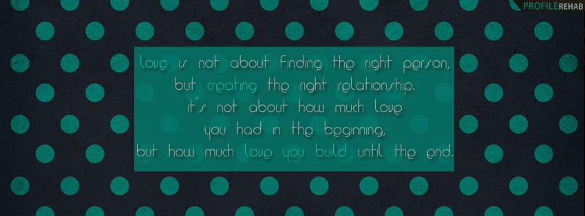 Quote about Love Facebook Cover - Love Quote Images