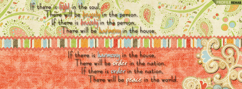 Quote About Peace Facebook Cover