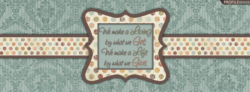 Vintage Polkadot Quote Cover for Facebook Timeline