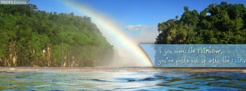 rainbow quote facebook cover