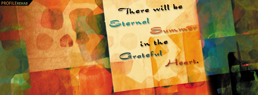 Eternal Summer Quote Facebook Cover