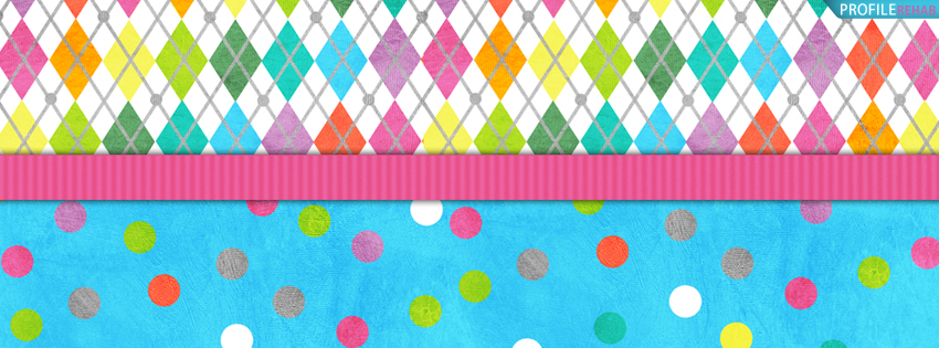 Rainbow Plaid Facebook Cover for Timeline