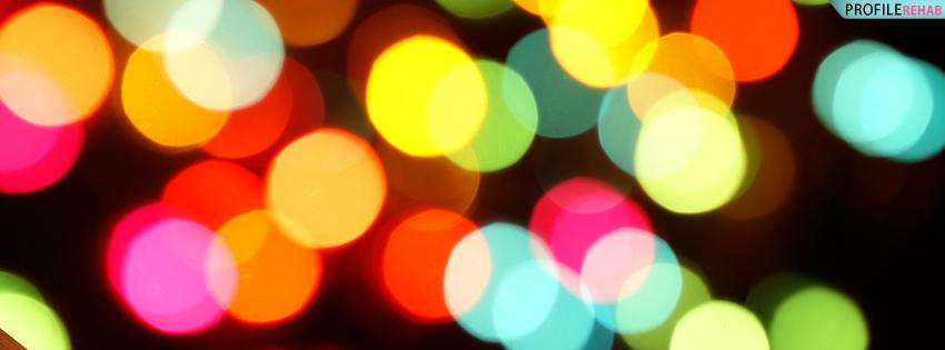 Rainbow Colored Lens Blur Facebook Cover