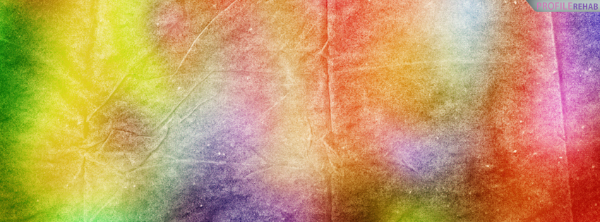 Rainbow Tie Dye Facebook Cover