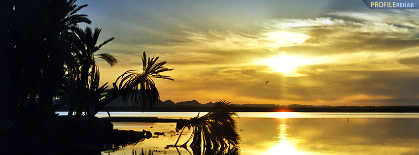 Egyptian Sunset Facebook Cover