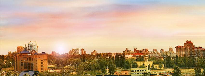 Kyiv City Ukraine Facebook Cover Preview