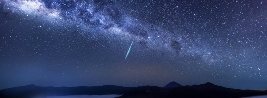 Shooting Star over Mountain Facebook Cover