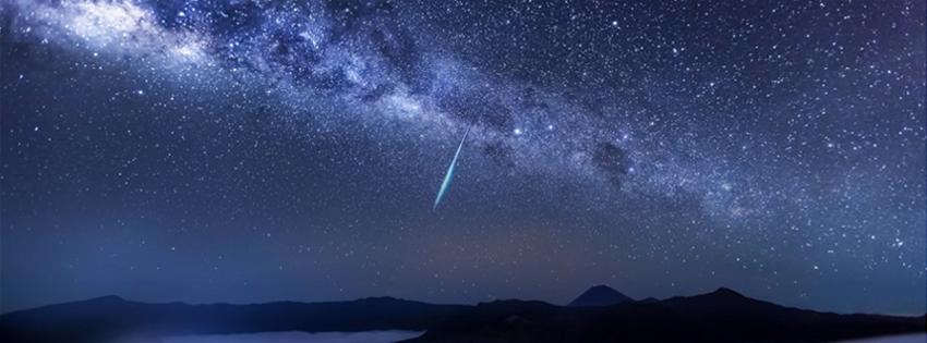 Shooting Star over Mountain Facebook Cover