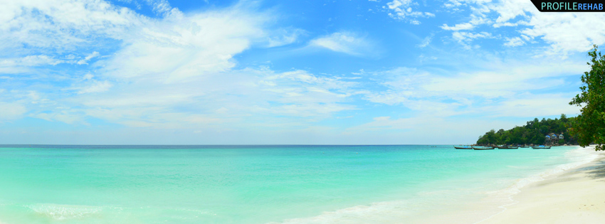Ocean Background Images for FB - Turquoise Ocean in Thailand Timeline Cover