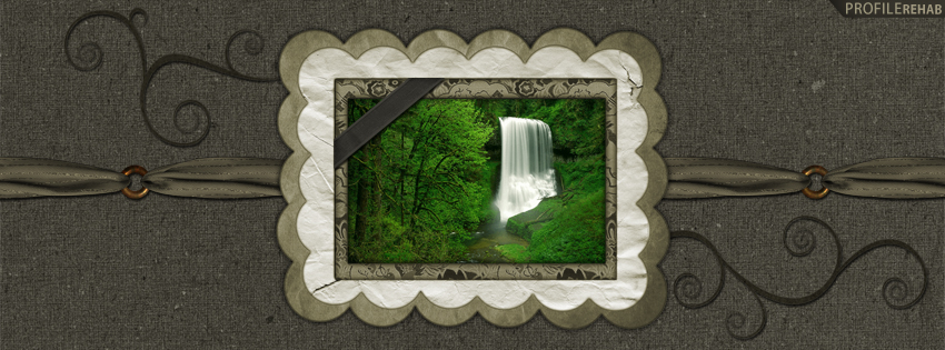 Pretty Waterfall Facebook Cover for Timeline