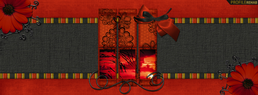 Black & Red Scenic Facebook Cover