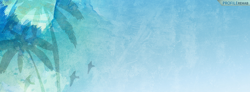 Summer Covers for Facebook -  Turquoise Palm Trees Facebook Cover - Pretty Summer Cover