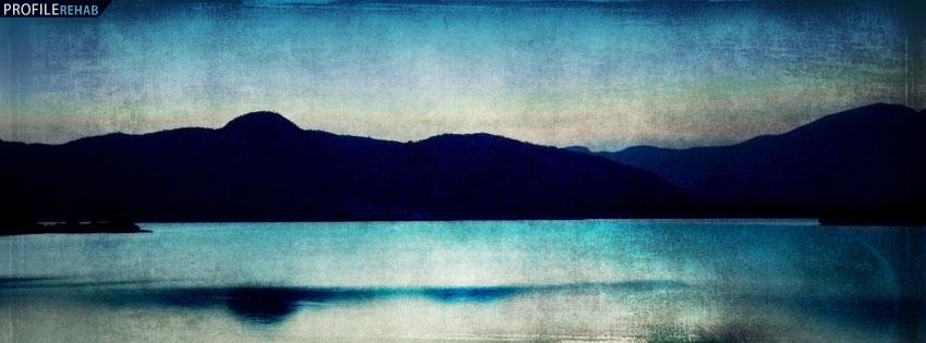 Blue Sky Over Mountains Facebook Cover Preview