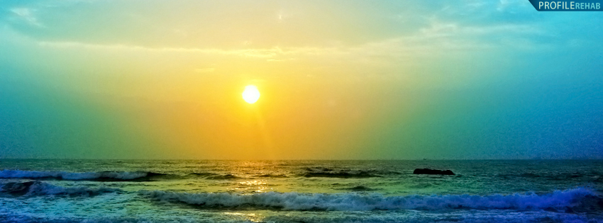 Bright India Sunset Cover for Facebook Timeline