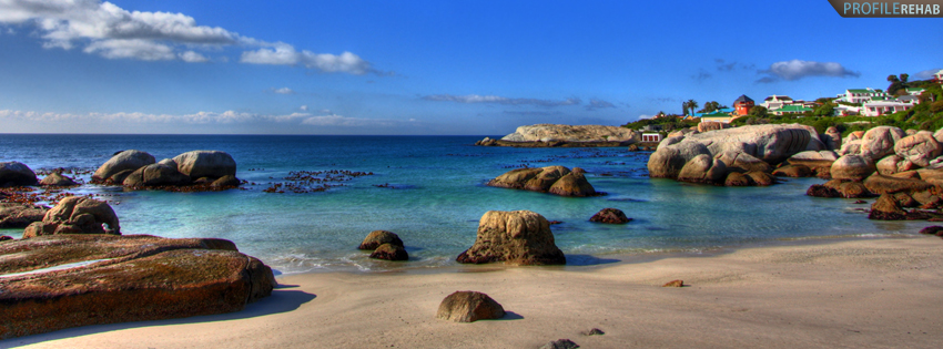 Cape Town South African Beach Timeline Cover