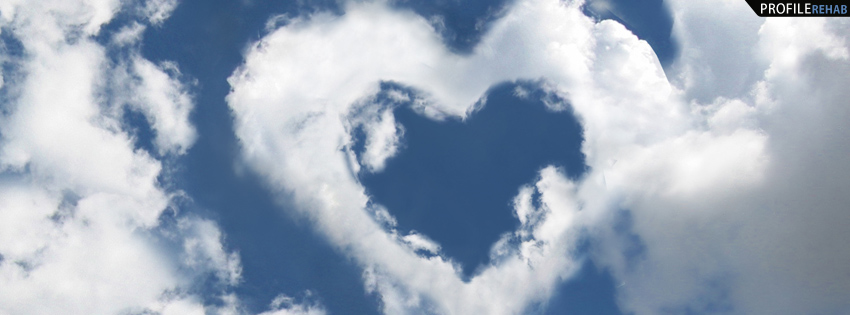 Heart in Clouds Facebook Cover for Timeline