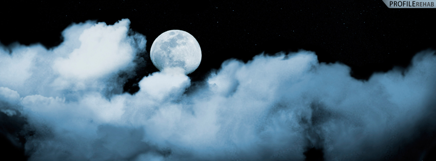Dark Clouds and Moon Facebook Cover for Timeline - Creepy Halloween Images Preview