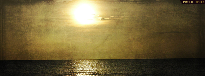 Dark Sunset Timeline Cover for Facebook