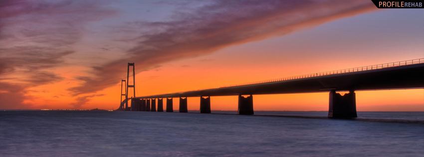 Beautiful Sunset over Denmark Bridge Facebook Cover