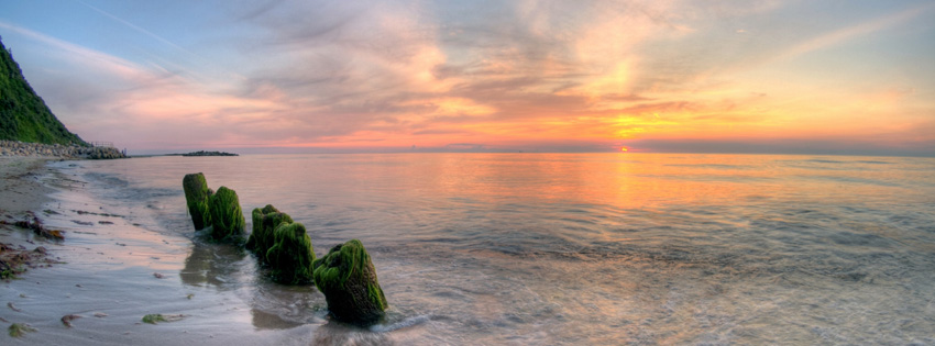 Amazing Sunset Facebook Cover for Timeline