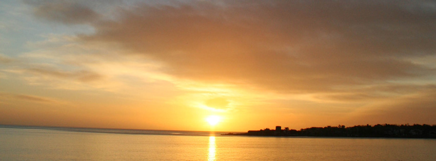 Dun Laoghaire Ireland Sunset Facebook Cover