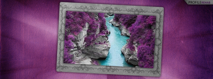Purple Fairy Pools Island of Skye Facebook Cover Preview