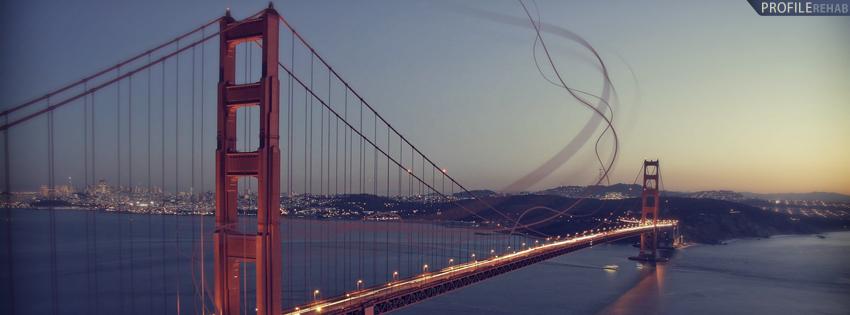 Scenic Golden Gate Bridge Facebook Cover for Timeline