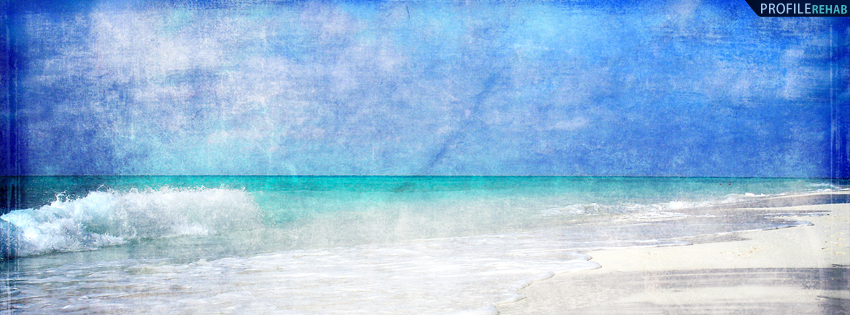 Scenic Grunge Beach Timeline Cover for Facebook