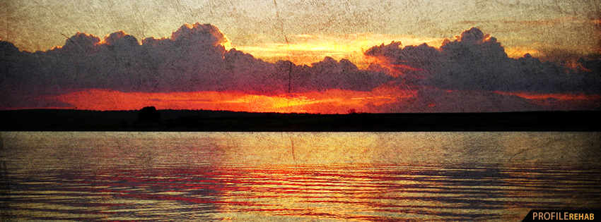 Grunge Scenic Sunset FB Cover