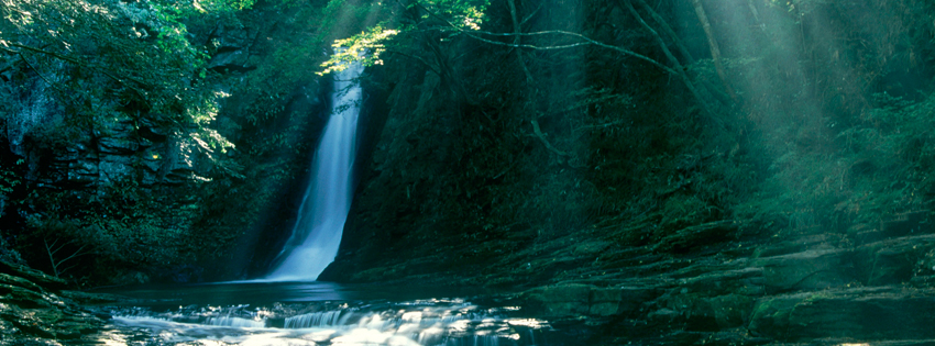 Japan Waterfall Facebook Cover