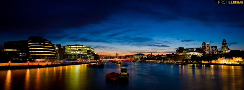 Beautiful London Skyline Facebook Cover Preview