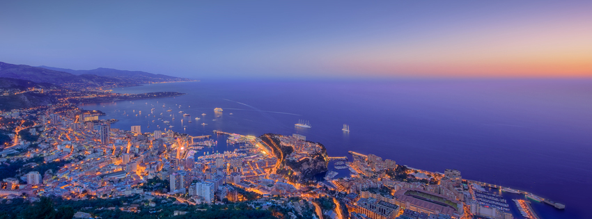 Monaco City Lights Facebook Cover Preview
