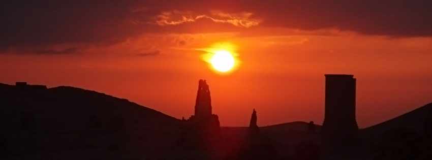 Scenic Palmyra  Sunset Facebook Cover Preview