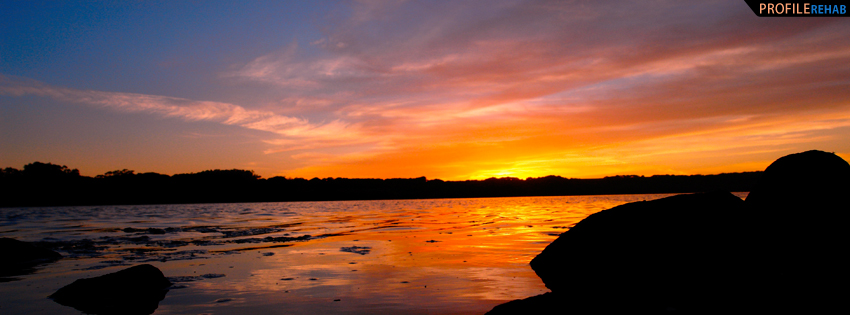 Pretty Sunset Facebook Cover for Timeline