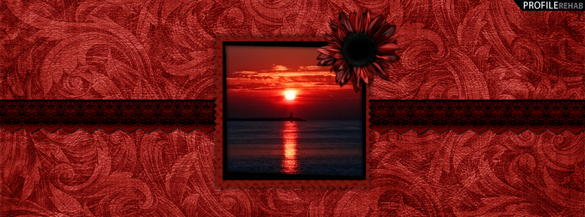Black & Red Sunset Facebook Cover